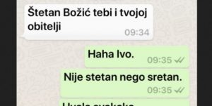 Kad Hrvat čestita Srbinu Božić i napravi dve slovne greške (Foto)