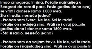 VIC: Imao crnogorac tri sina…