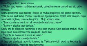 VIC: Ušao Mujo u taxi…